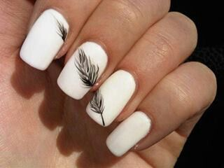 feather nails love love love this