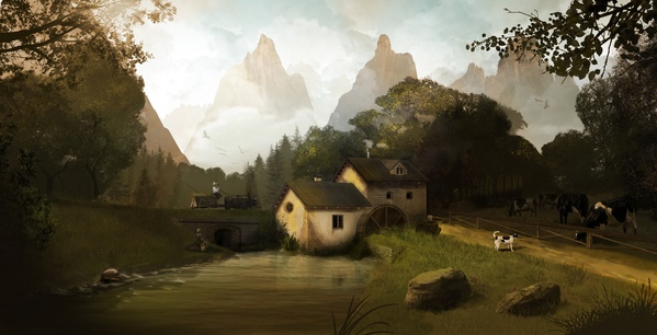 """""""The Old Mill"""" by Pietro Carretta, via Behance"""