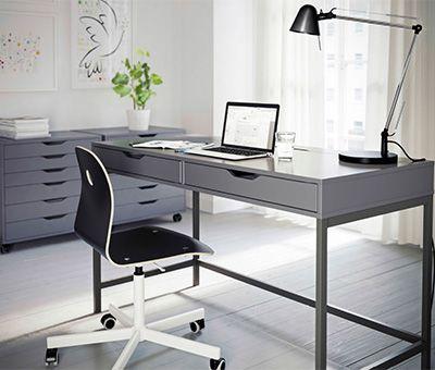 Alex Bureau Grijs Ikea Home Officeoffice