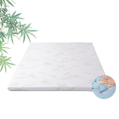 """""""Features & Benefits"""" Memory Foam Mattress Topper 2.5 Inch Cool Gel Mattress Topper with Removable Washable Bamboo Rayon Mattress Protector CertiPUR-US Certified AirCell Mattress Pad by TAMPOR Queen Size"""