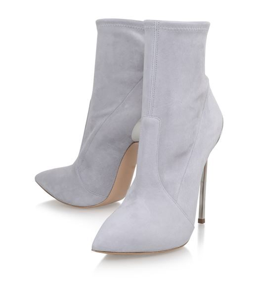 Shoes: Ankle Boots Casadei Blade Suede Ankle Boots
