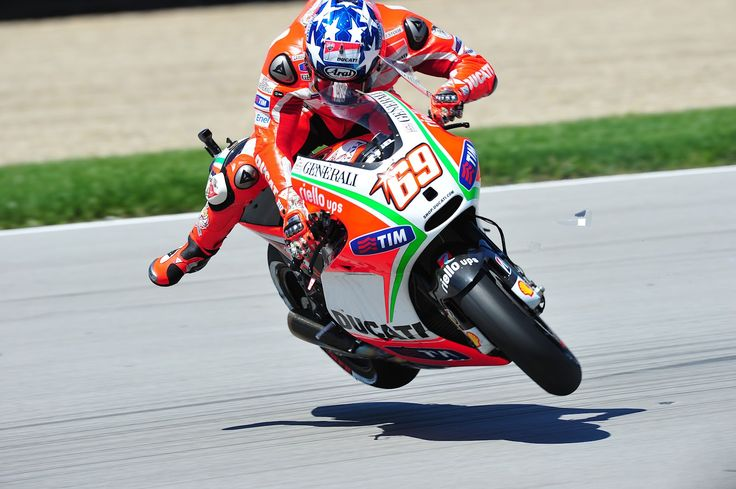 Nicky Hayden @ Indianapolis 2012  Shit like this doesnt usually end well!