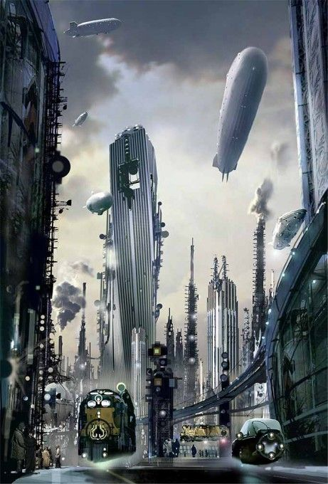 Engine City (Book cover) Stephan Martiniere; Copyright ©Stephan Martiniere