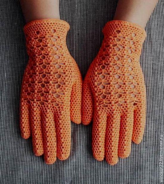 """Купить Перчатки  ажурные """" Одри"""" - однотонный, перчатки женские, перчатки вязаные, ажурные перчатки"""