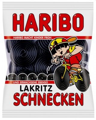 Haribo Lakritz-Schnecken, Rotella 200g, 5 Beutel Lakritz Lakritz ohne Gelatine