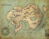map of Neverland...cute!