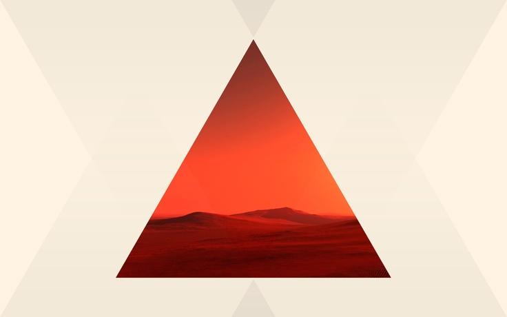 background geometrico con desierto de fondo
