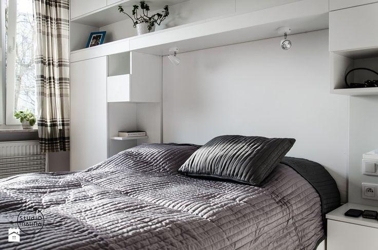 Sypialnia styl Skandynawski Sypialnia - zdjęcie od Studio Malina – Architekci & Projektanci wnętrz