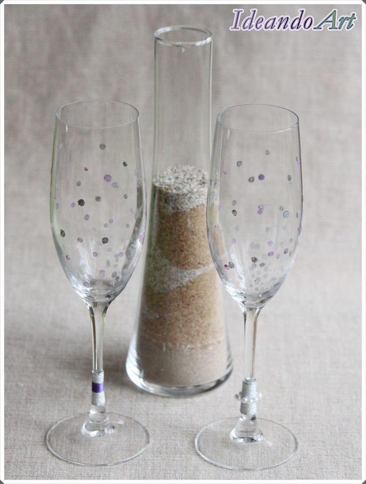 Copas personalizadas para el ritual de la arena en tu boda by IdeandoArt