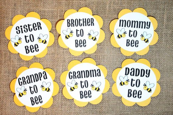 Love these! Bee Theme Gender Reveal Baby Shower Party by BurlapPaperSack