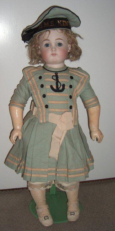 "RARE 24"" Kestner AT Antique Doll - layaway - Three Sisters Antiques #dollshopsunited"