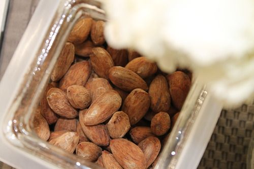 salt and vinegar almonds.  So, so, so good and so easy.