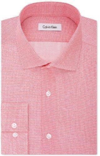 Calvin Klein Pink Mens Size Medium M Athletic Fit Button Down Shirt
