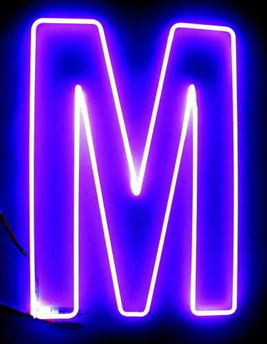 The letter m by lite brite neon m is for me margielou for Large neon letters