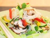 Veganer Glasnudelsalat mit Wasabi-Dressing