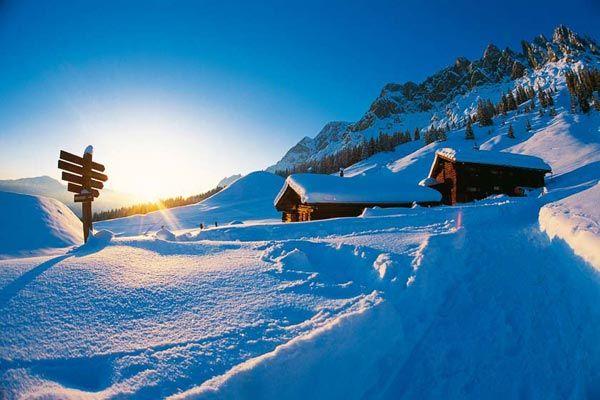 http://www.uebergossenealm.at/en-winter-holiday.htm Winter landscape in Dienten