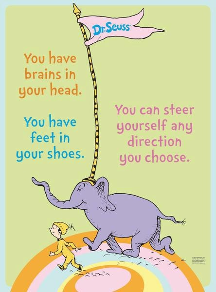 sometimes we just need to be reminded and live by the words of Dr Seuss!