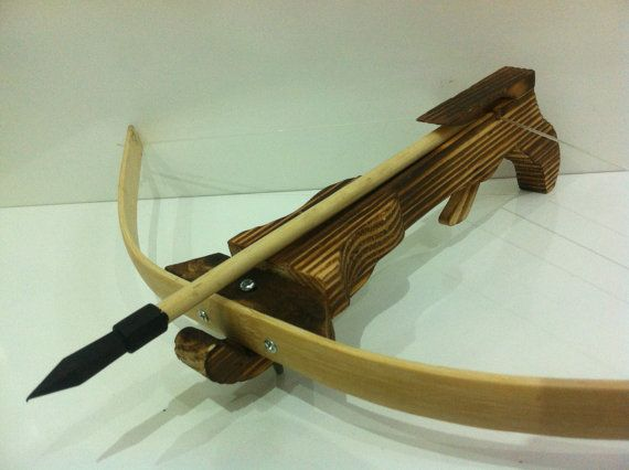 Decorative Wooden Heroes Crossbow  Handmade by MrGeppettoys