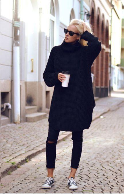 Black sweater dress 2017