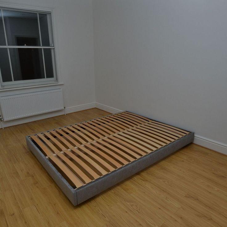 Double Hempel Custom made Upholstered Low Platform Bed Frame