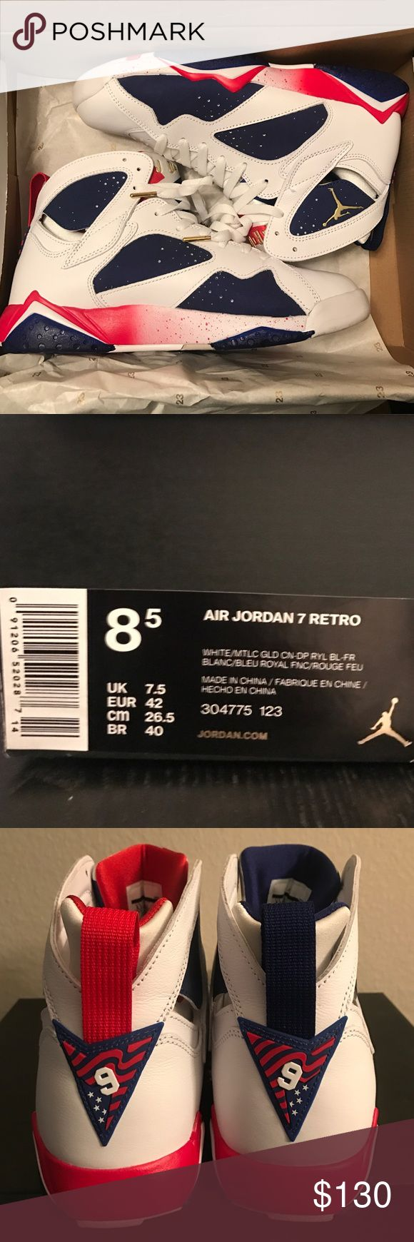 Air Jordan 7 Retro 2016 Olympic Alternate Air Jordan 7 Retro. Brand new only worn once! Comes with the box. Nike Shoes Sneakers