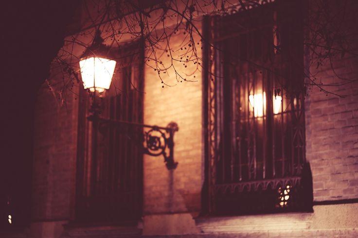 night at Vác - small town lights*kisvárosi fények #light #night #town #lantern #romantic #winter