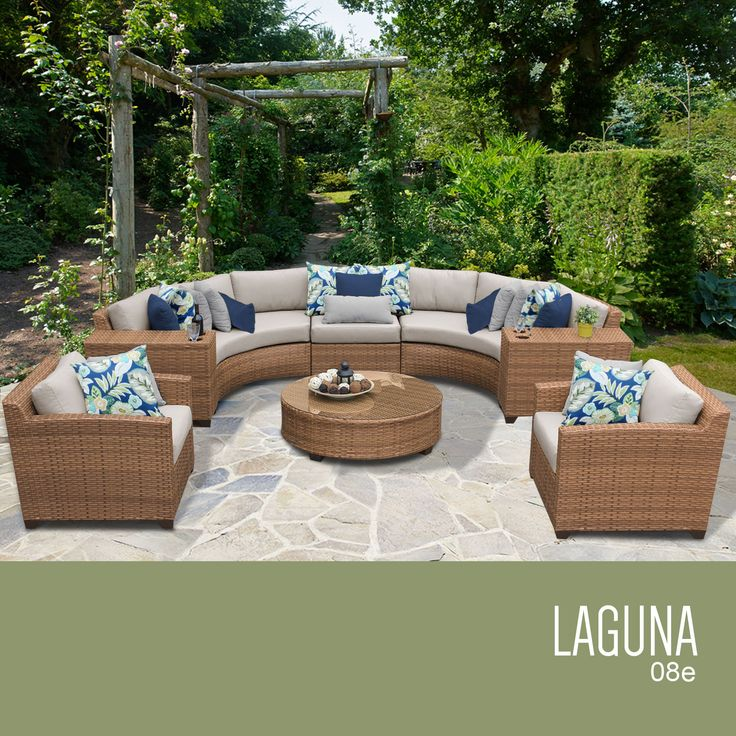 Laguna 8 Piece Outdoor Wicker Patio Furniture Set 08e Part 69