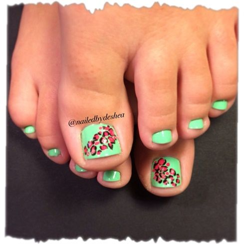 leopard toes - Nail Art Gallery