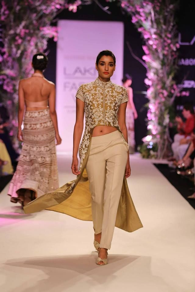 Jacket and pants by Manish Malhotra. Lakme Fashion Week 2014