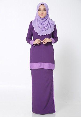 Hana Kurung Modern from Arisha in Purple - Made of Soft crepe- Round Neckline- Wudhu' friendly- Back Hidden Zip ... #bajukurung #bajukurungmoden