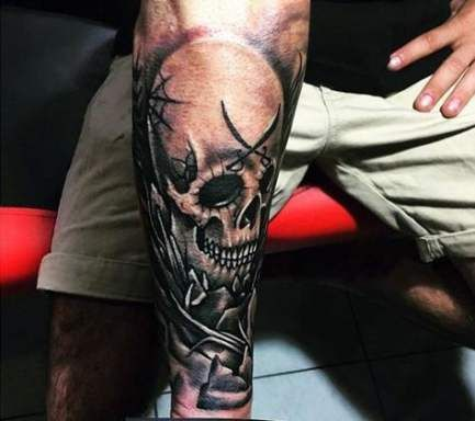 New Tattoo Forearm Skull Ideas