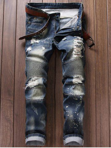 GET $50 NOW | Join RoseGal: Get YOUR $50 NOW!http://www.rosegal.com/mens-pants/ruched-design-destroy-washed-moto-696133.html?seid=7123897rg696133