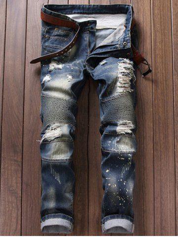 GET $50 NOW | Join RoseGal: Get YOUR $50 NOW!http://www.rosegal.com/mens-pants/ruched-design-destroy-washed-moto-696133.html?seid=7123897rg696133