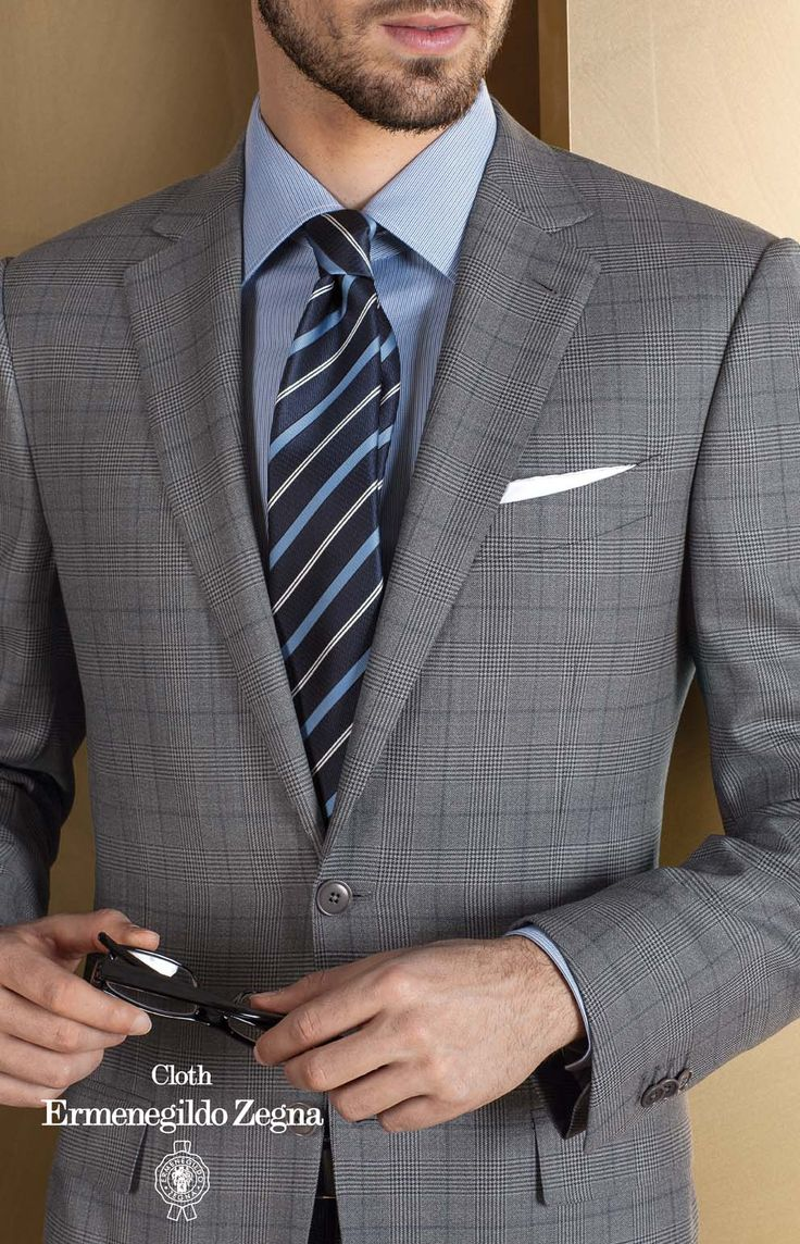 Costum business made to measure Zegna, colectia Heritage, compozitie 49% Wool – 34% Silk – 17% Poliammide, 290/300 Gr.