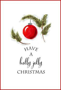 Free Christmas Printables | Have a Holly Jolly Christmas | DIY Wall Art, Crafts, Cards | onsuttonplace.com