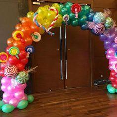 lollipop candies balloon arch decorations  www.eclipsepartysg.com