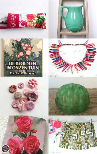 Old fashioned rose garden by natalie on Etsy--Pinned with TreasuryPin.com