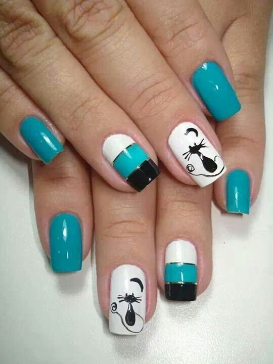 ¿Qué te parece este decorado de uñas? :D