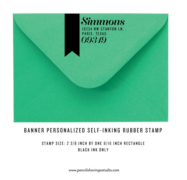 Personalized Address Stamp - Banner Design - Self Inking.: Banners Design, Bloggraph Design, Stampiti Stamps, Blog Graph Design, Stamps Banners, Design Samples, Personalized Address, Website Design, Address Stamps