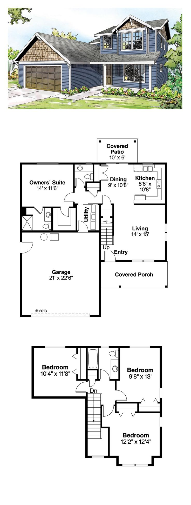 Saltbox House Plan 60921 | Total Living Area: 1521 Sq. Ft., 4