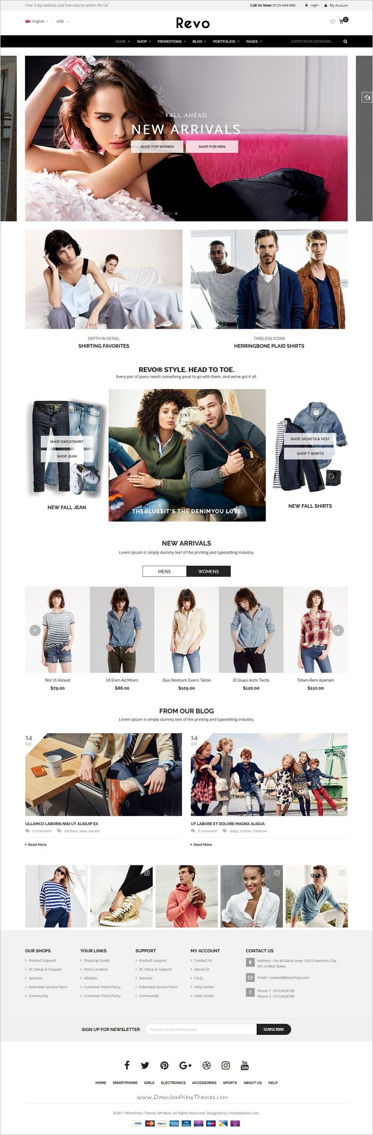 Revo is a wonderful responsive @WooCommerce #WordPress theme for awesome #fashion #shop eCommerce website with 5+ unique homepage download now➩ https://themeforest.net/item/revo-multipurpose-responsive-woocommerce-theme/18276186?ref=Datasata