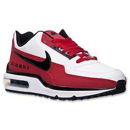 Men's Nike Air Max LTD Running Shoes| FinishLine.com | White/Black/Gym Red