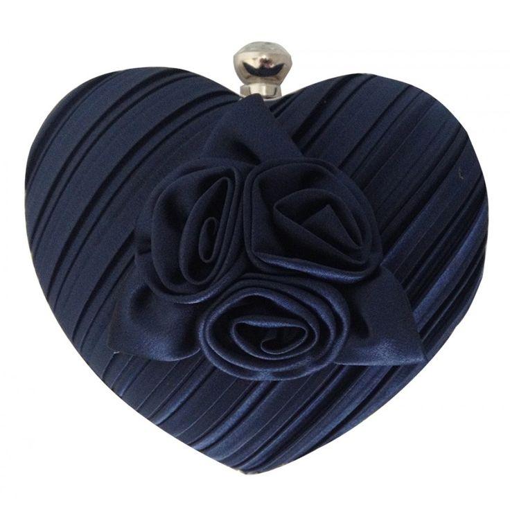 Blue Heart Clutch