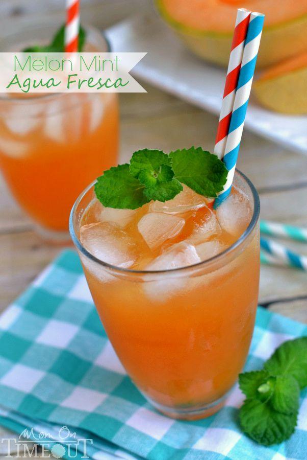 Melon Mint Agua Fresca - Mom On Timeout