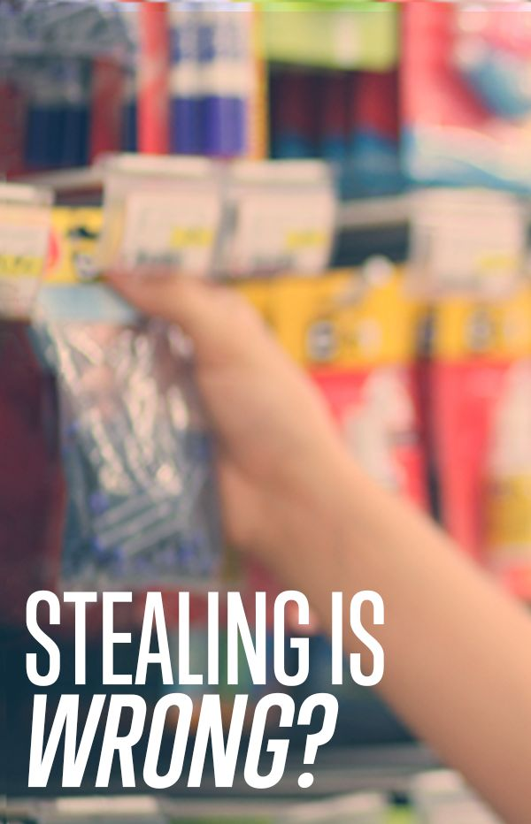 stealing is a sin