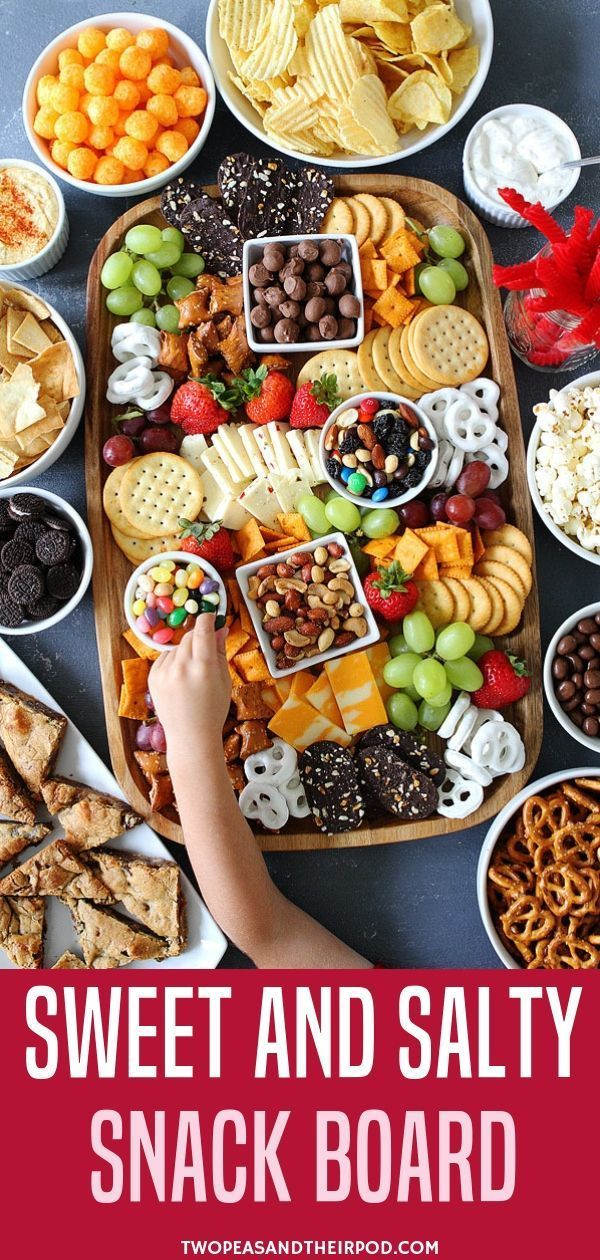Looking For The Best Ideas You Can Follow For Your New Year S Party Try This Sweet And Salty Snack Board To Celebrate Party Food Appetizers Food Salty Snacks