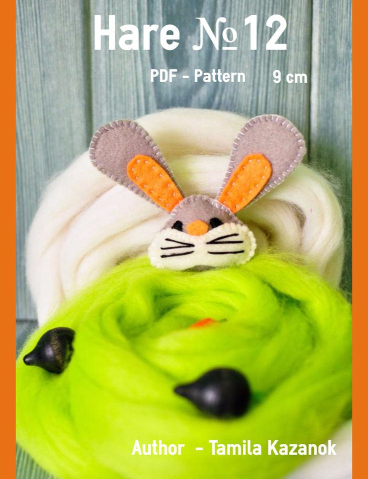 Hare PDF Sewing Pattern/ DIY Hare Keychain 9 cm/ Stuffed Toy Animal/ Hare softie / Instant Download PDF Pattern by Tamilashki on Etsy