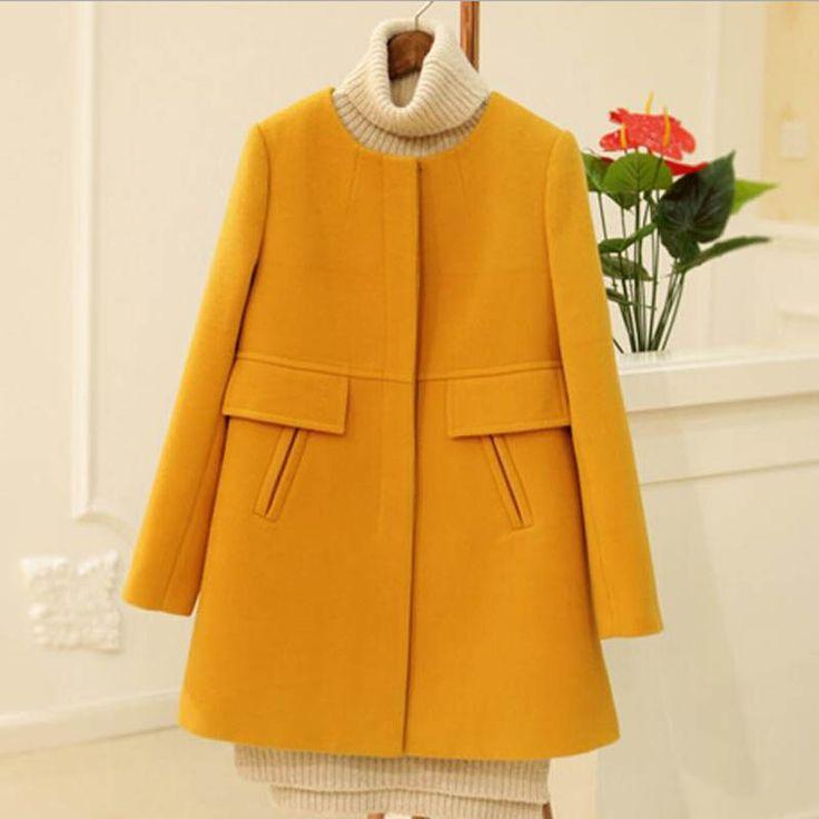 >> Click to Buy << 2016 autumn winter wool coat Korea fashion casual new women overcoat 4XL warm casaco slim women wool jackets plus size,lb2547 #Affiliate