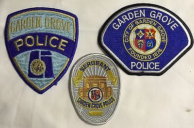 Garden Grove Police Patches lot of three (3)  Excellent