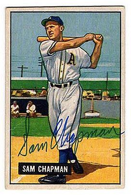 vintage autographed baseball cards